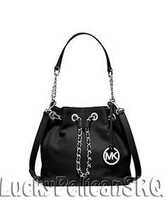 93c336cf68d8 Michael Kors Frankie Medium Leather Messenger Corsoobody Bag Black NWT