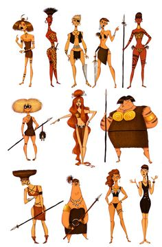 AMAZONS SKETCHES by Olivier SILVEN, via Behance ✤ || CHARACTER DESIGN REFERENCES | キャラクターデザイン | • Find more at https://www.facebook.com/CharacterDesignReferences & http://www.pinterest.com/characterdesigh and learn how to draw: concept art, bandes dessinées, dessin animé, çizgi film #animation #banda #desenhada #toons #manga #BD #historieta #strip #settei #fumetti #anime #cartoni #animati #comics #cartoon from the art of Disney, Pixar, Studio Ghibli and more || ✤