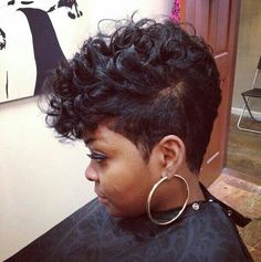 50 Mohawk Hairstyles for Black Women | Pinterest | Red curls ...