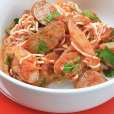 Fennel and Sausage Spaghetti