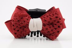 Handmade Two Fabric Combination Bow Hair Jaw Claw #VeryShine #Claws #Casua l#bow
