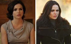 "This is what the characters of ""Once Upon a Time"" looked like in the first season vs. the last - Regina Mills"