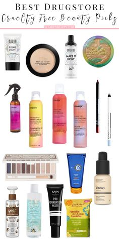 17 Best Drugstore Cruelty Free Beauty Picks Discover the best drugstore cruelty free beauty products in makeup, hair and skin care that don't hurt animals in the making, and won't hurt your wallet. Beauty Care, Beauty Skin, Diy Beauty, Homemade Beauty, True Beauty, Beauty Hacks For Teens, Gloss Matte, Vegan Beauty, Belleza Natural