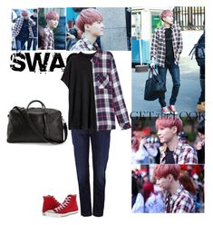 Get the look: bts Suga by glitterlovergurl on Polyvore featuring polyvore, fashion, style, Rails, H&M, Dolce&Gabbana, Converse, clothing and bts