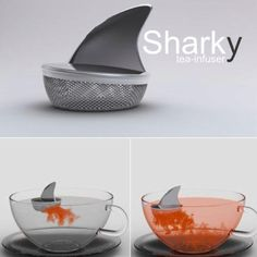 The Sharky Tea Infuser, desingned in Argentina by Pablo Matteoda....