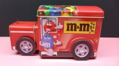 Collectible M&M's Red Candy Truck Tin #MMs