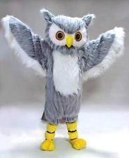 GREY OWL bird MASCOT HEAD Costume Suit Halloween prop