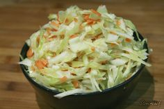 chińska surówka z białej kapusty Asian Slaw, Coleslaw, Cabbage, Good Food, Food And Drink, Cooking Recipes, Menu, Vegetables, Kitchen