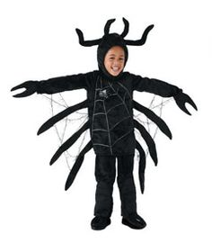 Chasing Fireflies / Kids costume / big black spider child costume - Chasing Fireflies