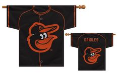 """MLB Baltimore Orioles Jersey Banner 34"""" x 30"""" - 2-Sided"""