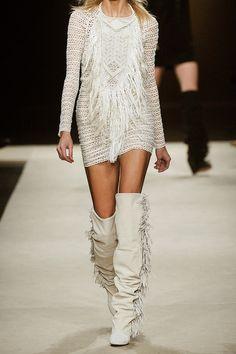 d985fa4b02f0 Isabel Marant Mana Fringed Stretchlace Dress in Beige (cream) - Lyst  Stretch Lace
