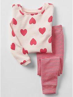 Hearts & stripes sleep set