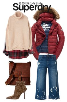 """The Cover Up – Jackets by Superdry: Contest Entry"" by ralugoii on Polyvore featuring Fuji, J Brand, Superdry, Madewell, MANGO, Frye and Manolo Blahnik"