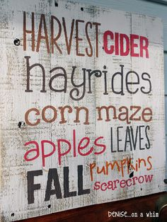 denise...on a whim: A Harvest of Pallet Signs