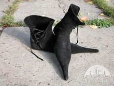 GOTHIC SHOES SUEDE LONG TOE