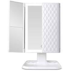 Symple Stuff Compare to other dazzling lighted mirrors, you can achieve flawless and accurate makeup every time with this mirror. Small Vanity Mirror, Mirrors For Makeup, Lighted Vanity Mirror, Makeup Mirror With Lights, Vanity Mirrors, Lighted Magnifying Makeup Mirror, Mirrors Wayfair, Strip Lighting, Overhead Lighting