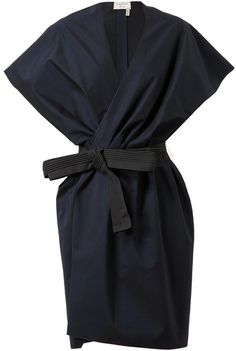 Lanvin Belted Cotton-Silk Jacket Dress - wow I wish I had somewhere to where this dress Designer Dresses Lanvin, Silk Jacket, Jacket Dress, Belted Dress, Looks Style, Looks Cool, Look Fashion, Womens Fashion, Lolita Fashion