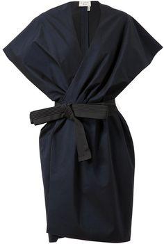 Lanvin Belted Cottonsilk Jacket Dress Love...