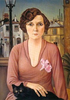 Christian Schad:  Marcelle (1926).  She looks like the female groupie from the Flight of the Concords.