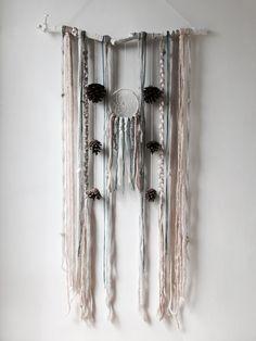 Large Wall Hanging, Dream Catcher, Wood Art, Branch Art, DreamCatcher, Wall Decor, Boho Decor, Willow, Wool Art, Boho Wedding Decor, Wedding