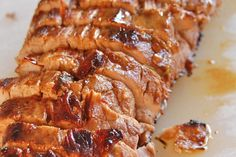 Marinated pork roast with pan sauce Recipe Pork Tenderloin Recipes, Pork Loin, Pork Roast, Pork Recipes, Cooking Recipes, Healthy Recipes, Crockpot Recipes, Pan Sauce Recipe, Recipe 4
