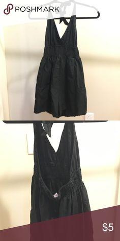 Black, halter romper Barely worn. Black, tie neck halter romper. Elastic middle and low back Xhilaration Other