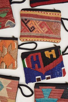 Kilim Fabric Coin Pouch. #discoverturkey #earthboundtrading