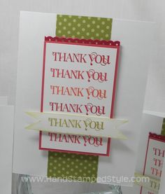 Hand Stamped Style: CUTE & CURLY THANK YOU CARD