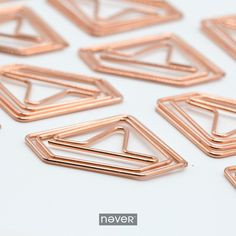 2017 new fashion rose gold paper clips metal office clips cute bookmarks handmade capitatum durable office bindling products -in Clips from Office & School Supplies on Aliexpress.com | Alibaba Group