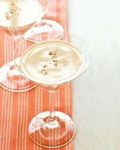 Eggnog Martini from Martha..gotta be good, AND it's like the recipe my mother serves to her Best friends every Christmas DELICIOUS!