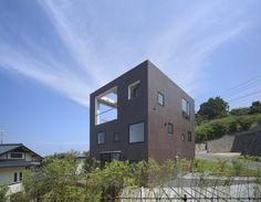 "House with Square Opening by NKS Architects ""Location: Fukutsu, Fukuoka, Japan"" 2008"