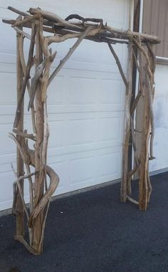Driftwood Wedding Arch x pcs Garden Arbor Beach Wedding Wood Arbor Trellis Rustic Natura
