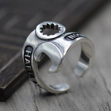 Buy Retro Style Personality Wrench Opening Ring Thai Silver Jewelry A Unique Locomotive Ring Sterling Silver 925  #jewelry #unique #ring #uniquejewelry