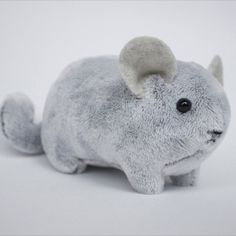 Adorable gift for chinchilla owners and animal lovers. This handmade stuffed chinchilla is a realistic cuddly plush perfect for kids or adults. Wool Felting, Chinchillas, Fluffy Animals, Exotic Pets, Piggy Bank, Cute Gifts, Pet Supplies, First Love, Dinosaur Stuffed Animal