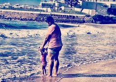 Daddy Daughter Time  #sea #beach #sand #water #waves #wave #wave #blue #nature_brilliance #naturelovers #seascape #water_brilliance #beautiful #water_captures #natureza #vitaminsea #seaview #refelctions #summervibes #seaside #riverside #ocean #amazing #nature #ripples #water_shots #waterfall #bluesea #sealovers #calves #legs