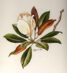 Magnolia – Trish Burr needle painting