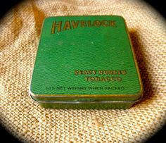 1940s Green Tobacco Tin by HAVELOCK // The British by JackpotJen, $16.00