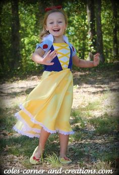 LBB Sienna dress pattern into Snow White DIY tutorial from Cole's Corner & Creations.