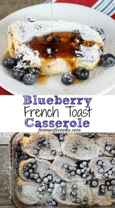 This Blueberry French Toast Casserole is a great overnight breakfast bake that e. - This Blueberry French Toast Casserole is a great overnight breakfast bake that everyone will love! Blueberry French Toast Casserole, French Toast Bake, Blueberry Breakfast Recipes, Blueberry Recipes Easy, Overnight Blueberry French Toast, Breakfast Toast, Breakfast Ideas, Overnight Breakfast Casserole, Second Breakfast