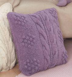 Чехлы для подушки, вязаные спицами