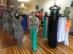 Linen Pants and our lovely owner #linenpants #MainstreamBoutique #shopping #summer