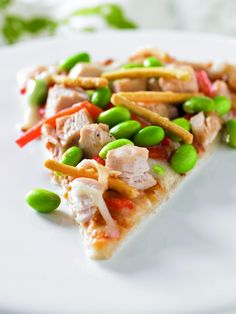 Asian Chicken Edamame Pizza