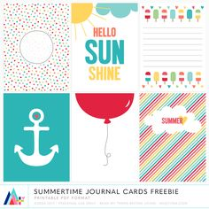 Original journal cards drawn by me in Illustrator, perfect for project life & much more! Includes 6 - cards in . Project Life Freebies, Project Life Cards, Scrapbook Templates, Scrapbook Cards, Pocket Scrapbooking, Scrapbooking Ideas, Handmade Greetings, Greeting Cards Handmade, Free Printable Cards