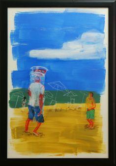 Thiana Sehn - Vendedor de Camarões, 2012 Pastel seco e guache sobre papel. 70 x 100 cm.