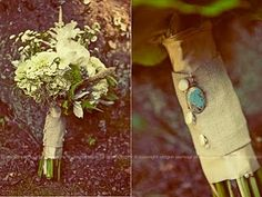 bouquet- i like the turquoise pendant and the natural look