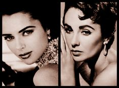 Elizabeth Taylor and Heather Stewart Whyte similar celebrities, doubles selebrities, lookalike selebrities Vintage Hollywood, Classic Hollywood, Top Photographers, Elizabeth Taylor, Look Alike, 90s Fashion, Supermodels, Actresses, Celebrities