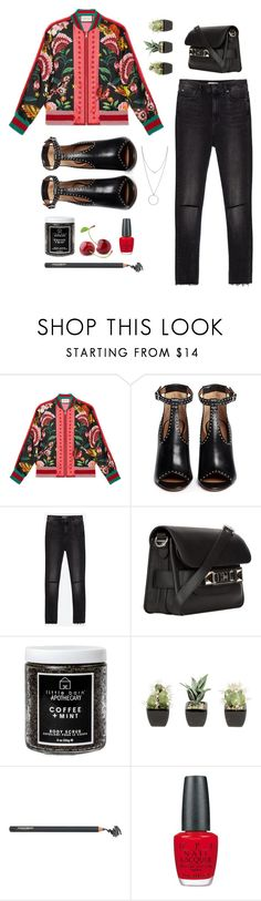 """""""Bomber it is"""" by solespejismo ❤ liked on Polyvore featuring Gucci, Givenchy, Zara, Proenza Schouler, Little Barn Apothecary, Napoleon Perdis, OPI and Botkier"""