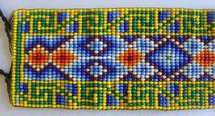 Mexican Huichol Beaded bracelet van Aramara op Etsy