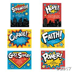 Superhero VBS Poster Set Oriental Trading is part of Superhero vbs - It's a bird, it's a plane, it's your newest superhero of faith! Inspire VBS students to do great things with their faith with this Superhero Sunday School Rooms, Sunday School Classroom, Sunday School Crafts, Superhero Classroom Theme, Superhero Poster, Classroom Themes, Superhero Party, Superhero Room, Vbs Themes