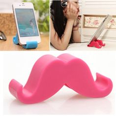 Colorful plum red beard shape simple design polyester Mobile phone #products,Priced At Only US$0.30 http://pin.cheapjewelrywholesaler.com/